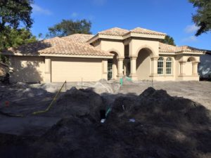 instaling a new irrigation system for a new home