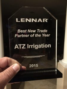 lennar irrigation award